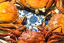 清蒸大闸蟹。的做法
