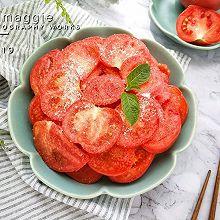 #爽口凉菜,开胃一夏!#最简单的凉拌番茄