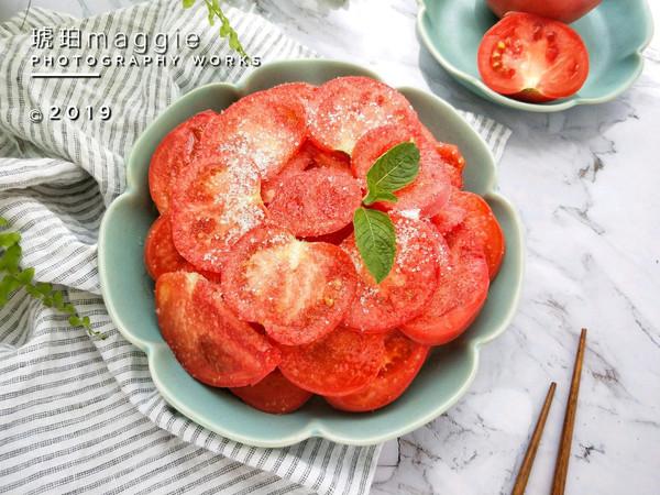 #爽口凉菜,开胃一夏!#最简单的凉拌番茄的做法