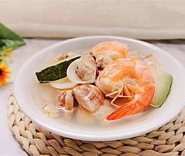 #全电厨王料理挑战赛热力开战!# 【沙白螺冬瓜海虾汤】的做法