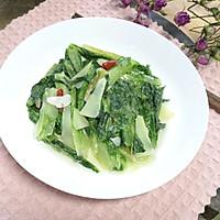 #花10分钟,做一道菜!#素炒油麦菜的做法图解6