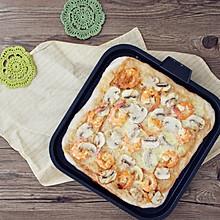 #苏泊尔煎烤机#鲜虾蘑菇披萨