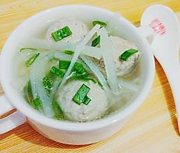 秋意浓【手工肉丸白萝卜汤】的做法