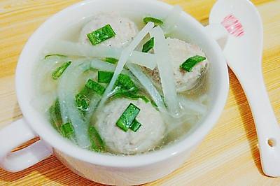 秋意浓【手工肉丸白萝卜汤】
