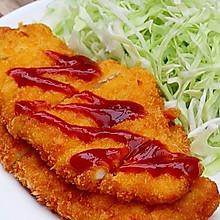 #安佳马苏里拉芝士挑战赛#炸鸡排:十步完成,酥脆流汁~