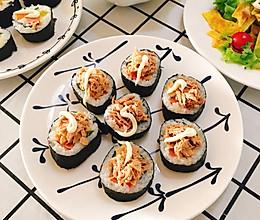 #美食新势力#金枪鱼寿司/海苔肉松寿司的做法