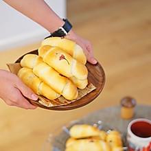 创意面包|日式樱花盐面包#硬核菜谱制作人#