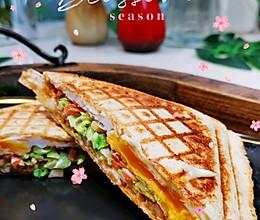 #我们约饭吧#早餐三明治高蛋白❤️蜜桃爱营养师私厨的做法