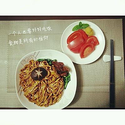 飘香拌面――一个人的晚餐
