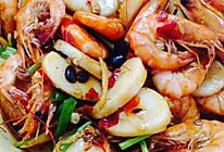 年糕焖大虾的做法