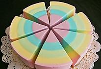 彩虹酸奶冻芝士蛋糕6寸的做法