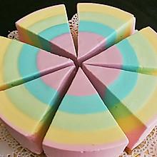 彩虹酸奶冻芝士蛋糕6寸