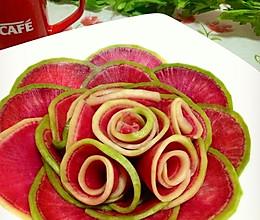 脆腌玫瑰萝卜的做法