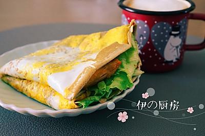 0脂肪高蛋白的营养早餐-荞麦杂粮煎饼