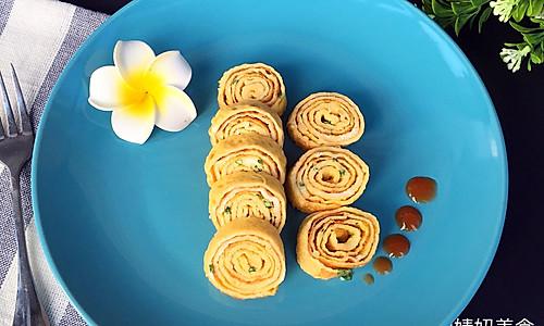葱花蛋卷~营养丰富的做法