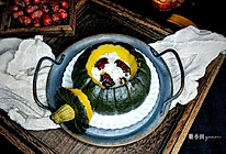 红枣糯米南瓜盅的做法
