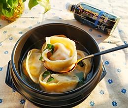 #一起加油,我要做A+健康宝贝#胖嘟嘟の韩式香菜鸡蛋菌菇汤水的做法