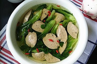 青菜秧猪肝汤