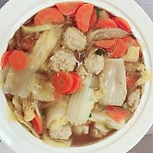 冬日份-蔬菜肉丸粉丝汤