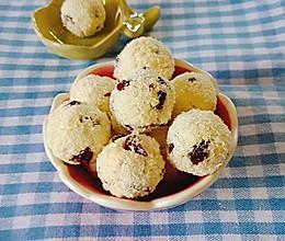 蔓越莓蛋白椰蓉球的做法