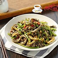 青椒榨菜炒鳝丝的做法图解9