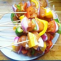 彩色鸡肉烤串的做法图解7