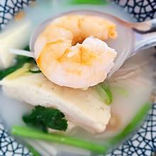 鲜虾豆腐牛奶浓汤