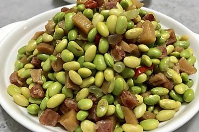 香炒毛豆豆--超級下飯菜