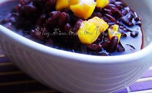 芒果紫米甜汤的做法