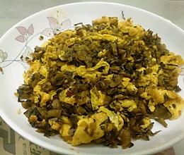 外婆菜炒蛋的做法
