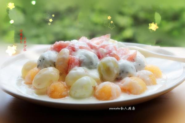 冰爽夏天,水果沙拉的做法