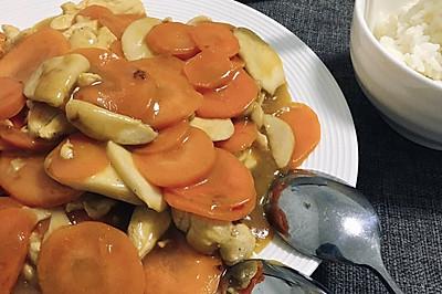 杏鲍菇鸡片