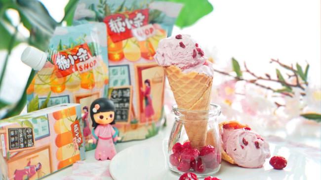 #糖小朵甜蜜控糖秘籍#零卡糖蔓越莓冰淇淋的做法