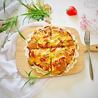 #晒出你的团圆大餐#田园风披萨的做法图解8