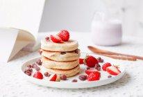 #换着花样吃早餐#剩豆渣|豆渣红豆舒芙蕾松饼的做法