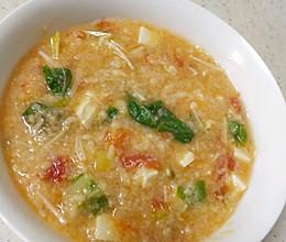 时蔬拌汤的做法