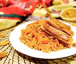 新疆菜-古法羊肉手抓饭的做法