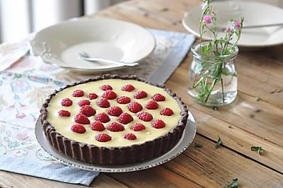 白巧克力树莓塔(视频菜谱)