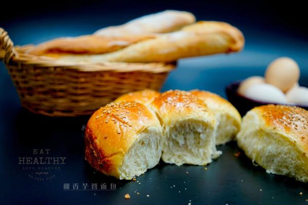 椰香芋蓉面包——中种法