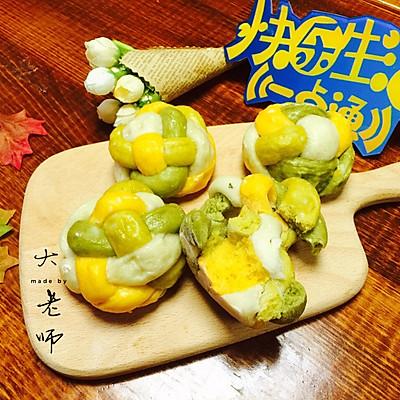 健康美味的绣球馒头