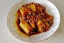 超下饭的豆皮金针菇卷的做法