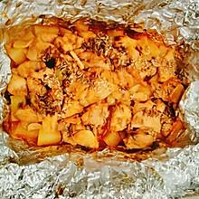 烤奥尔良鸡腿肉土豆