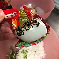 #馅儿料美食,哪种最好吃#咸蛋黄糯米饭团子的做法图解2