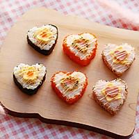 心形寿司卷-丘比沙拉酱