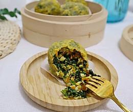 蒸玉米面菜团子 减脂主食代餐 不用揉面擀皮!饱腹低卡的做法