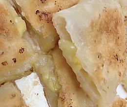 #换着花样吃早餐#好吃到飞起来的香蕉飞饼的做法