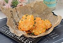 #美食视频挑战赛#芝士鸡肉蔬菜饼的做法