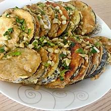 蒜香黄金煎茄饼,最简单版!