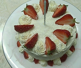 六寸奶酪戚风生日蛋糕的做法