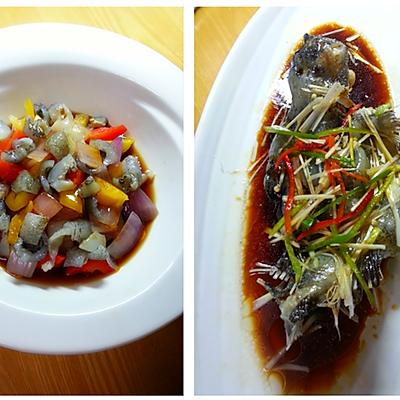 海参斑一鱼两吃---温拌海参斑鱼皮,豆豉蒸海参斑